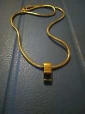16� Necklace with pendant Vintage Designer Jf gold tone