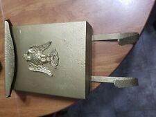VINTAGE  EAGLE Metal MAILBOX with Newspaper Holder