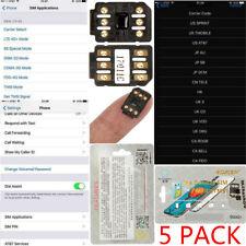 5 X NEW Perfect Unlock Turbo Sim Card for iPhone X 8 7 6S 6 Plus + 5S SE 5 LTE R
