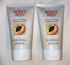 Burt's Bees Peach - Willowbark Deep Pore Scrub 4 oz (Pack of 2)