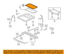 HONDA OEM 03-07 Accord-Sunroof Glass Seal 70205SDNA01