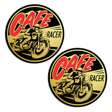 2 CAFE RACER AUFKLEBER GOLD AUTO MOTO STICKERS MOTORRAD MOTORSPORT RALLYE B 235
