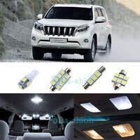 White Car Led Interior Light Upgrade Kit For Toyota Landcruiser Prado 150 x10pcs