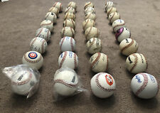 32 Used Leather Practice Baseballs Various Brands Lot Of 32 Balls