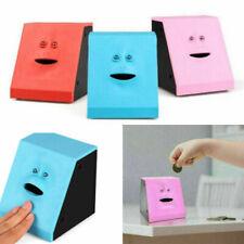 More details for children piggy banks creative sensor coin box cute face bank money safe box