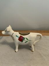 Vintage Hand Painted White Cow Creamer/Gravy Boat Unique and Beautiful