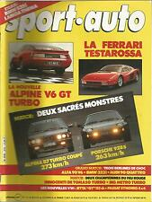SPORT AUTO 1984 N° 274 RALLY WRC SAN REMO F1 PORTUGAL FERRARI TESTAROSSA ALPINE