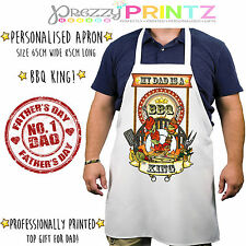 Personalised Apron Mens Fun Chef Kitchen BBQ Birthday Christmas Fathers Day Gift