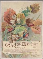 Original Cadbury's Cocoa Advertising card anti-kola c1905