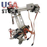 6 DOF Mechanical Robot Arm Clamp Servos DIY Kit for Arduino SCM Unassembled -US