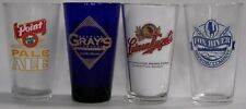 Wisconsin micro beer, brewery pint glasses, your choice, pick the 6 you want