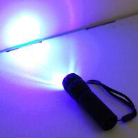 HQRP LED 390nM Ultra Violet Flashlight Torch Light + UV Protecting Glasses