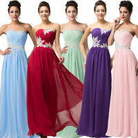 Long Prom Dress Evening Party Bridesmaid Dresses Women Wedding Chiffon Ball Gown