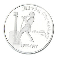 WR Elvis Presley Signed Silver Commemorative Coin Medal The King of N Rock Roll