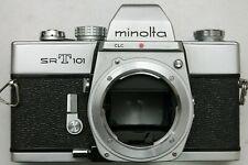 MINOLTA SRT101 FILM SLR BODY - NEW LIGHT SEALS - WORKING