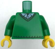 Lego New Green Torso Sweater V-Neck over Button Down Blue Shirt Pattern Green