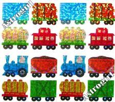 ~ Sparkle Train Carriage Logs Coal Boy Windows Hambly Studio Glitter Stickers ~