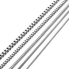 42-74cm Unisex Damen Herren Halskette Kette Necklace Chain Edelstahl 3mm
