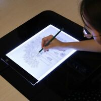 Electronic Whiteboard A4 Light Pad Drawing Tracing Book Blank For Acrylic Paint