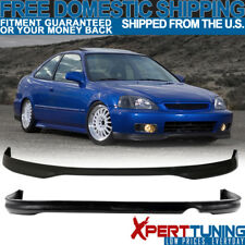 Fits 1996-1998 Honda Civic EK 2 4Dr T-R Polypropylene Front + Rear Bumper Lip