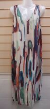 Dress Multi Size 10 Kaleidoscope Print Detail Lightweight