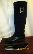 Menghi Riding Boots Leather Suede shaft Rubber bottom Made in Italy 37 6-6.5