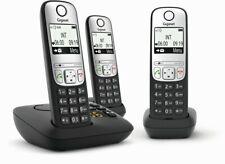 Gigaset A690A fácil de usar sem fio DECT TELEFONE Residencial, Prata/Preto (trio)
