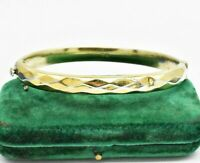 Vintage Sterling Silver Bracelet Diamond cut Gold Art Nouveau Art Deco #W426