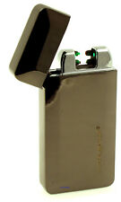 Cigarette Lighter - Silver Match Poplar Gunmetal Dual Arc Sensor Electronic NEW