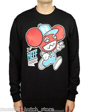 NEW WITH TAGS Neff x Deadmau5 1UP CREW SWEATER Black MEDIUM-XXLARGE LIMITED