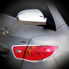 Chrome Mirror Cover Rear Tail Set For 07 08 09 10 Hyundai Elantra Avante HD