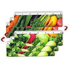 Vegetables Grocery Ruler Bookmark Lenticular Flip 6 Inch #RU06-261-I-S3#