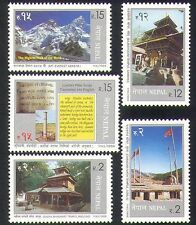 Nepal 1999 Mountains/Nature/Tourism/Everest/Buildings/Architecture 5v set n37198