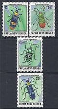 1996 PAPUA NEW GUINEA BEETLES SET OF 4 FINE MINT MUH/MNH