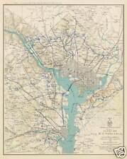 Map Civil War Washington DC Alexandria Va  poster art print   SKU2247