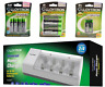 RECHARGEABLE BATTERIES | Packs of AA AAAA D 9V PP3 | BATTERY CHARGER UK SOCKET