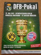 DFB Pokal Final Programm BORUSSIA DORTMUND - BAYERN MÜNCHEN 2011/12 in Berlin