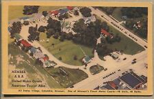 COLUMBIA, MO VINTAGE LINEN POSTCARD - All States Village Auto Court