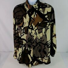 L.L. Bean Men's shirt Large Tall camouflage pockets buttons down long sleeve