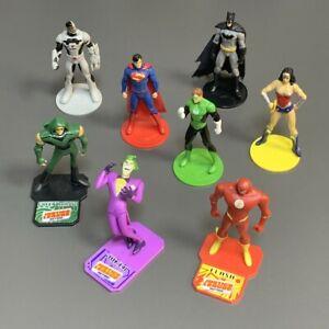 Lot 8x DC Comics Justice League Batman Joker Superman Cyborg Green Arrow 3'' Toy