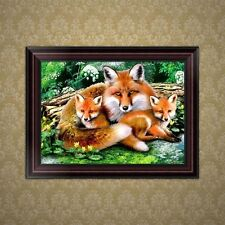 DIY 5D Diamond Embroidery Painting  Fox family Cross Stitch Craft Home Decor