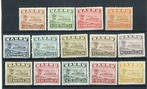 Nauru KGVI 1937-48 set of 14 SG26B/39B MH