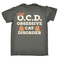 Funny T Shirt - Obsessive Cat Kitten - Birthday tee Gift Novelty tshirt T-SHIRT