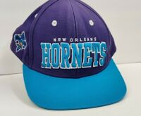 New Orleans Hornets NBA Adidas Snapback Hat Cap Purple Teal EUC