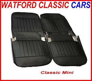 Classic Mini Front Seat Cover set BLACK