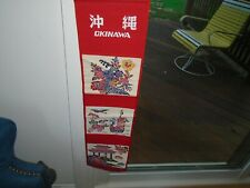 Vintage Okinawa hanging,sign banner approximately 27 inches long ,7 inches wide