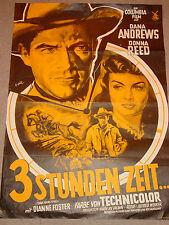 3 STUNDEN ZEIT ( THREE HOURS TO KILL ) - A1 PLAKAT / KLAUS DILL / 50er JAHRE