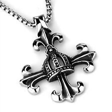 Cross Pendant Chain Stainless Steel Necklace