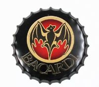 Bacardi Tin Bottle Cap Beer Sign Liquor Man Cave Bar Office Vintage New Rum