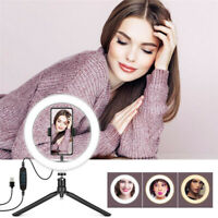 """Dimmable 10"""" LED Ring Light Lamp Phone Selfie Camera Studio Video Tripod Stand"""